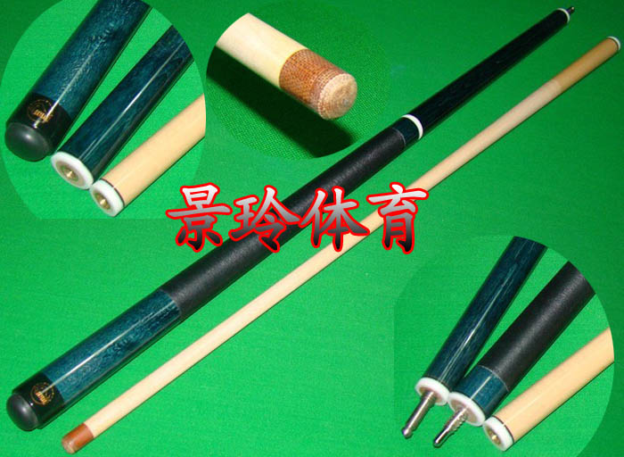 Free shipping billiard punch Jump-break cue stick 3/4 Classic black 8 american Maple wood cue stick with 13mm leather tip 58inch(China (Mainland))