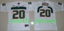 2016 new arrival,high-quality,Miami Hurricanes,#20 Ed Reed,#52 Ray Lewis,#26 Sean Taylor,for youth,free shipping(China (Mainland))