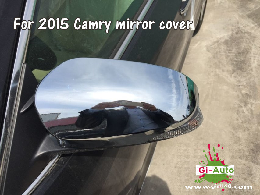 Gi-Auto Design for Toyota 2015 new Camry abs chrome rear mirror protector cover 2p/set free ship(China (Mainland))