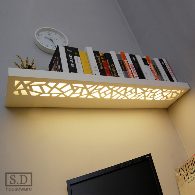 creative led lampe sculpt tag re murale mur den lampe. Black Bedroom Furniture Sets. Home Design Ideas