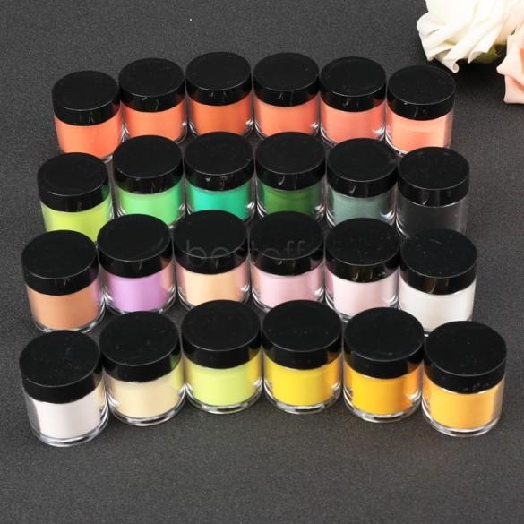 US Stock 12 Color Fine Shimmer Shiny Nail Glitter Nail Art Tool Kit Acrylic UV Powder Dust Gem Polish Nail Art Decorations US50(China (Mainland))