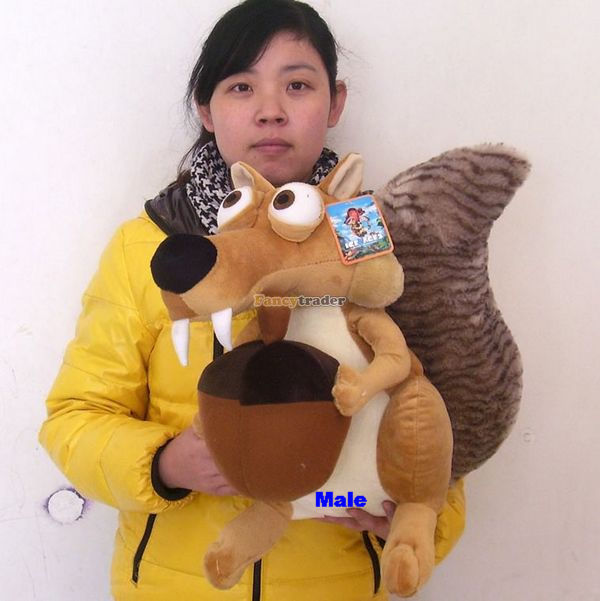 Fancytrader 24'' / 62cm Ice Age 4 Lovely Giant Stuffed Lover Squirrel Scratte Scrat Toy, Nice Gift,Free Shipping FT50183(China (Mainland))