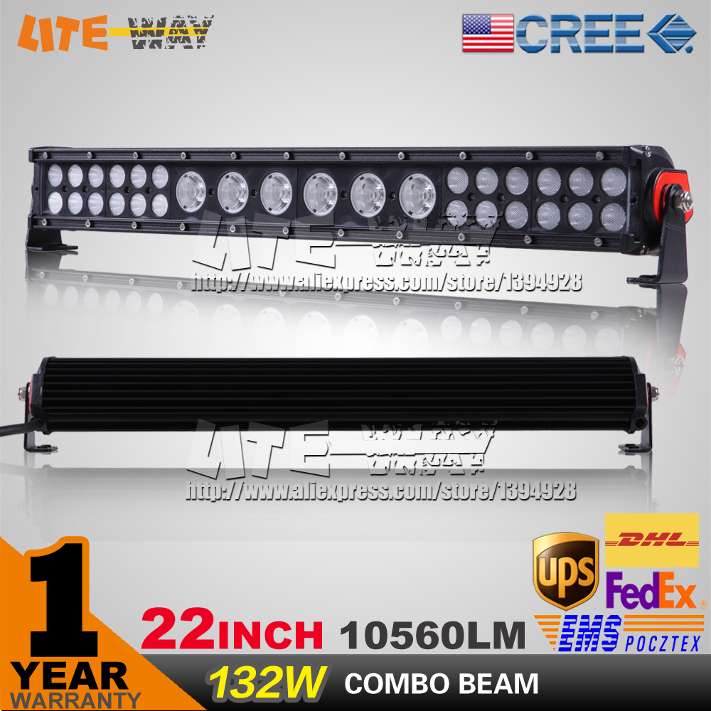12v/24v 20inch 132W Hybrid 3w 10w mixed cree led light bar for off road 4x4 use<br><br>Aliexpress