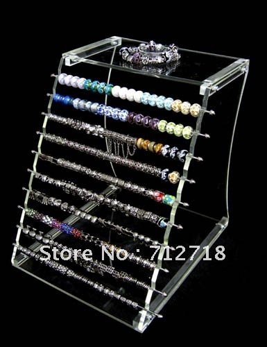 Display,acrylic display unit for large hole beads european style charm beads,sold individually(China (Mainland))