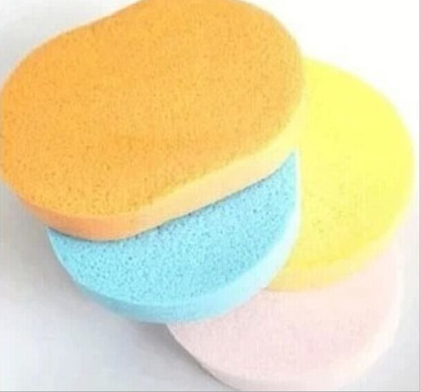 2PCS Professional Make Up Egg Sponge, Elegant Women Compressed Facial Skin Sponges Wholesale Soft Natural Cosmetic Powder Puff(China (Mainland))