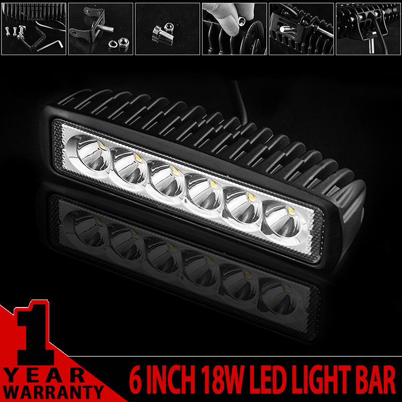 6 Inch Mini 18W LED Light Bar 12V 24V Motorcycle LED Bar