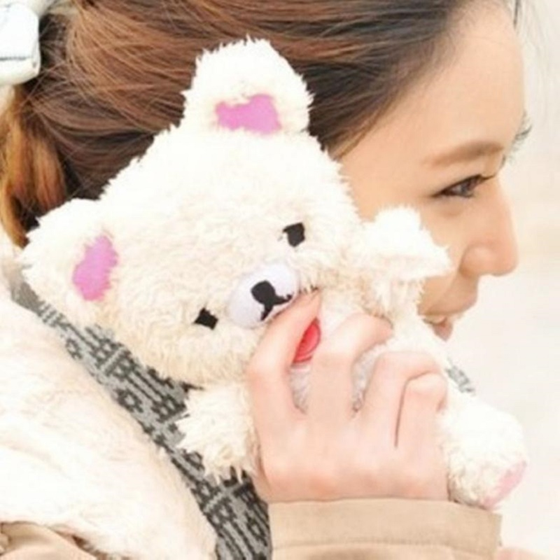 Lovely 3D Teddy Bear Doll Toy Plush Warm Winter Cell Phone Case For LG G3 G4 G5 cell Phones Doll Bear Phoone Case Kid's Gift(China (Mainland))