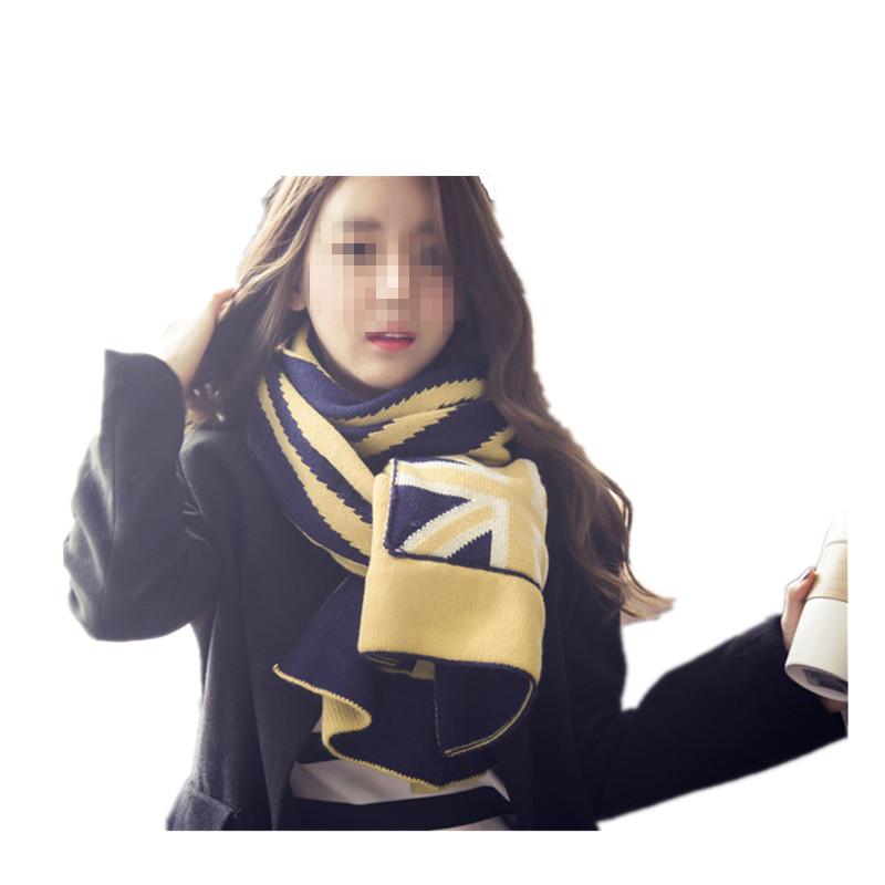 Korean style unisex warm fashionable high quality acrylic 8color choice long flag scarf women(China (Mainland))