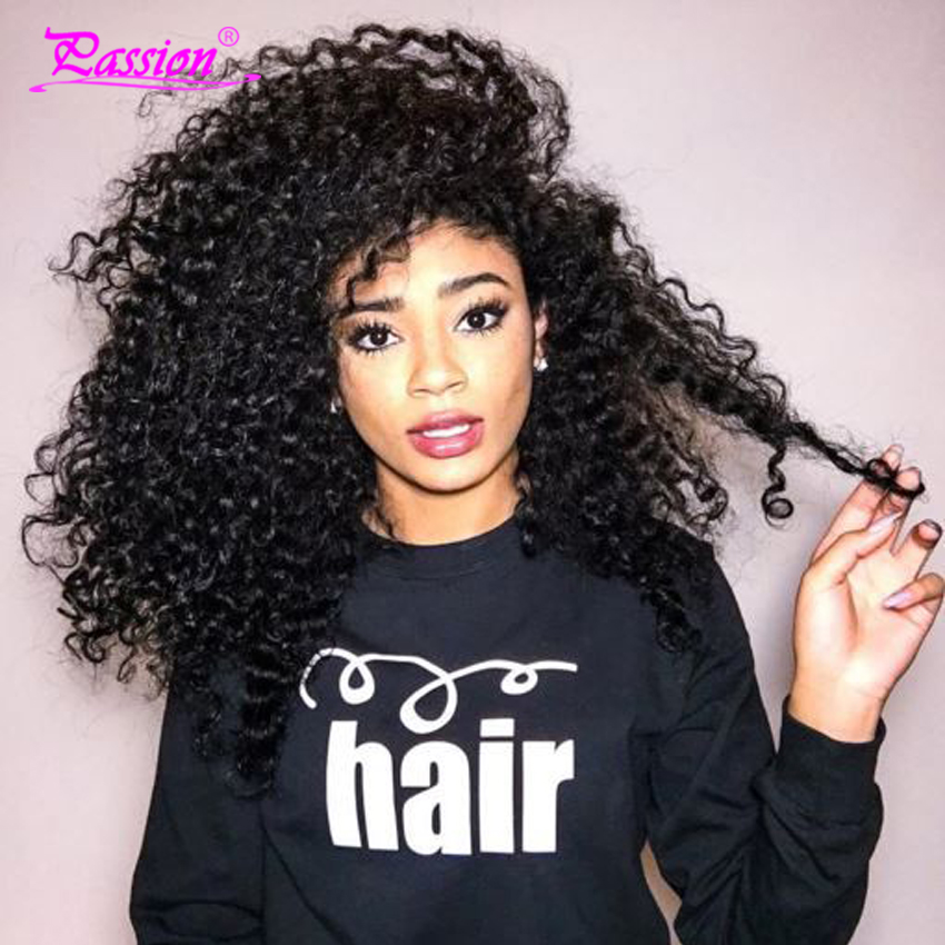 7A Queen Hair Products Mongolian Kinky Curly Hair Extensions 3pcs/lot Afro Kinky Curly Virgin Human Hair Weave Natural Black(China (Mainland))