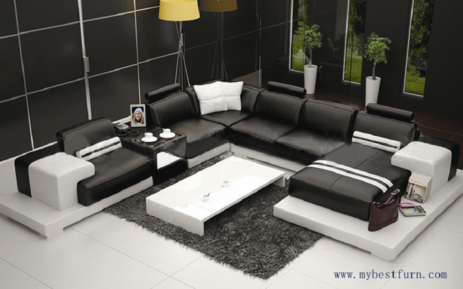 multiple combination elegant modern sofa large size luxury fashion style best living room couch sofa set hot sale s8709 - Leather Couches For Sale
