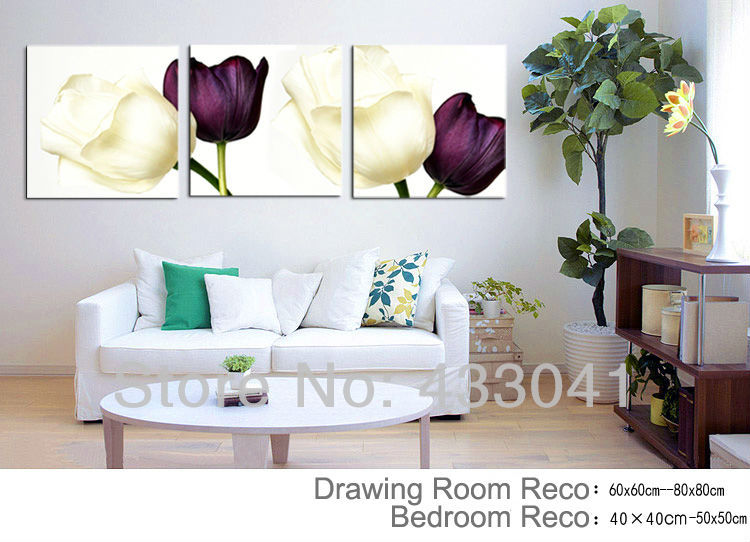 Comunique Wall Designs : ... wall-decor/free-shipping-3-piece-wall-decor-sky-blue-purple-flowers