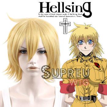 [Hellsing] Seras Victoria Short Yellow Blonde Anime Cosplay Wig