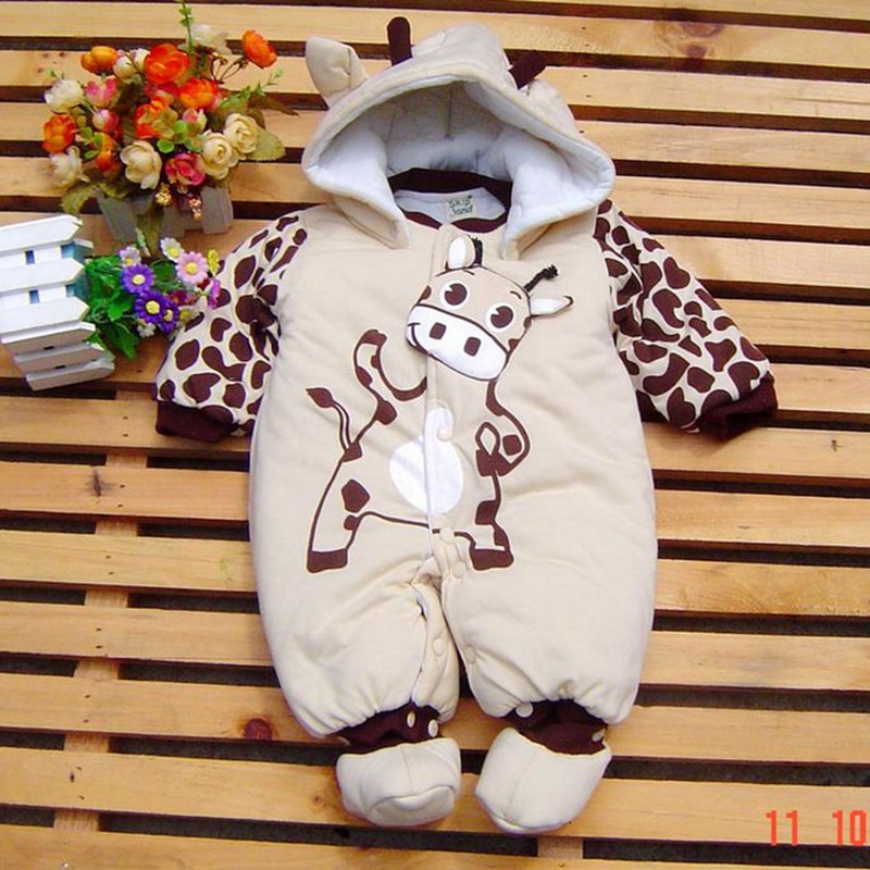 cute cow baby boy overall footsies winter romper children 39 s clothing kids jumpsuit baby wear. Black Bedroom Furniture Sets. Home Design Ideas