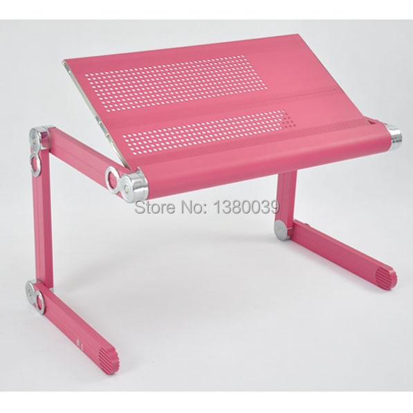 Hight quality hot sale large portable folding computer stand with plastic mouse pad pink color(China (Mainland))