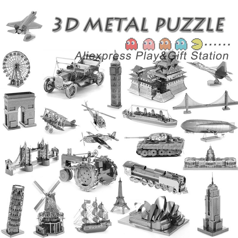 3D Metal Puzzles Earth Laser Cut Model Jigsaws DIY Gift Eiffel Tower Big Ben Helicopter F35 Fighter New Year Gift<br><br>Aliexpress
