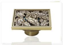 e-pak Best Price Beautiful L5402 Antique Brass Gravity Flushing Construction & Real Estate Bathroom Floor Drain single faucet