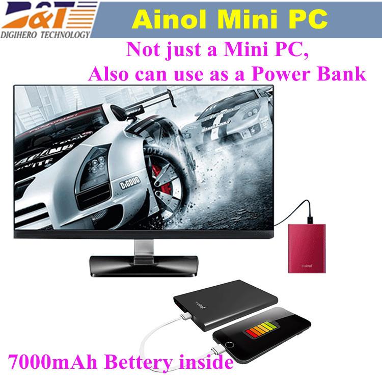 Ainol Mini PC Windows 8.1 OS 2GB RAM 32GB ROM Intel Btry Z3735 7000mAh Bluetooth 4.0 HDMI port Mini Computer PC for office(China (Mainland))