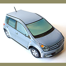 (mixed support) Handmade TOYOTA ist a series of car sedan  3D puzzle DIY paper model Educational Toy