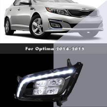 LED Daytime Running Lights DRL Lamps For Kia Optima Replacement Aftermarket Car Modification Styling Parts 2014 2015