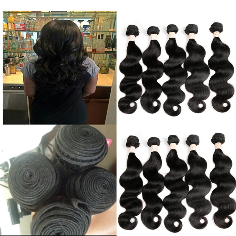 Braizilian Body Wave Virgin Bundle Deals 10 Pc Lot Whole Sale Virgin Hair Top 8a Grade Virgin Unprocessed Human Hair 10 Bundles(China (Mainland))
