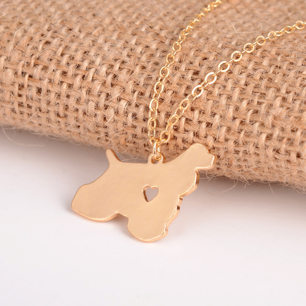 Hot Sale 10pcs Cocker Spaniel Necklace Dog Pendant Dog Jewelry Breed Pet Jewelry Pets Memorial Gift New Puppy Dog lovers