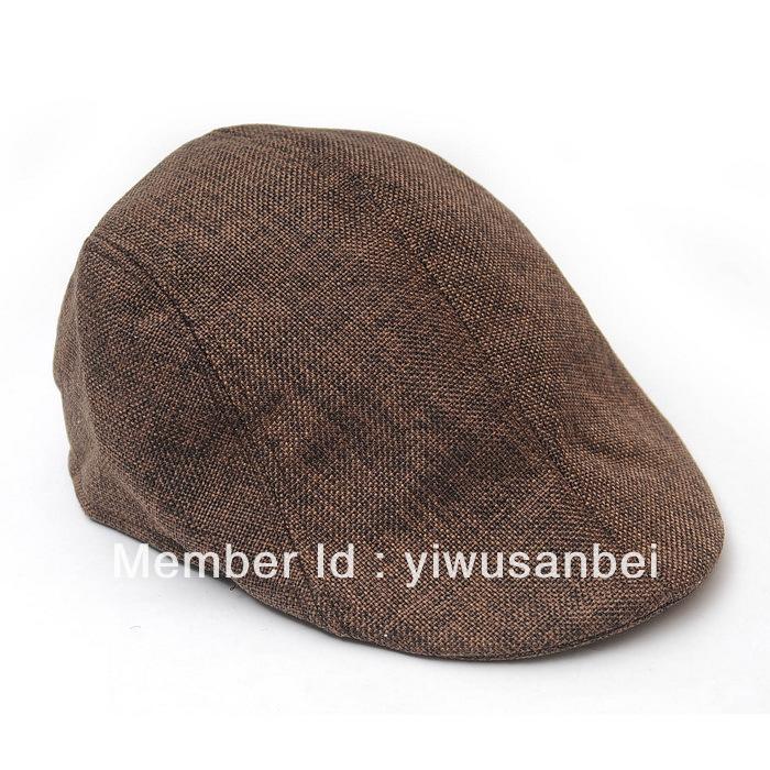 Summer Peaked Beret hat Newsboy Visor Hat Cap Cabbie beret Gatsby Flat Cap flax Hat(China (Mainland))
