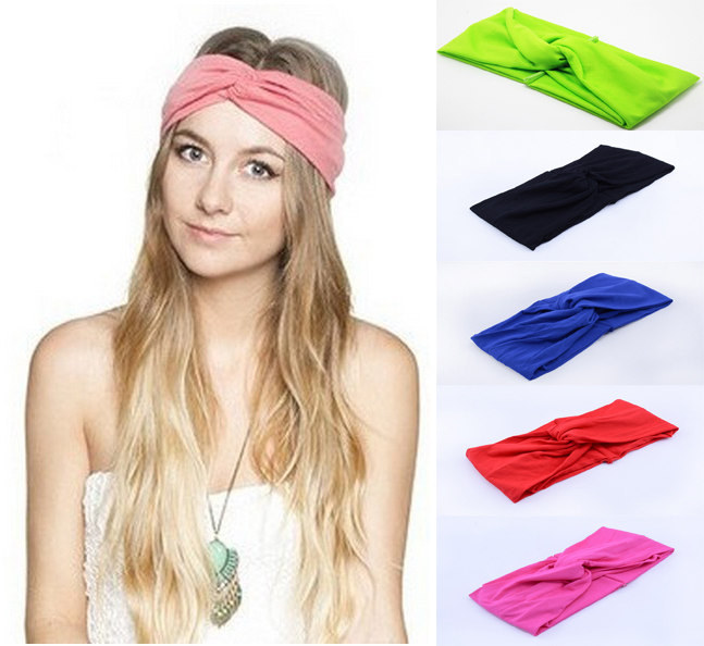 Fashion New 2014 Twist Sport Yoga Headband Bandana hijab Turban Headscarf Wrap Women Hair Accessories A0399 - Orange Aroma Trade Store store