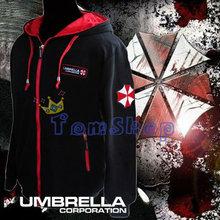 Resident Evil Cosplay Costume Hooded Jacket Coat Fashion Umbrella Corporation LOGO Unisex Hoodie Sweatshirt Biohazard(China (Mainland))