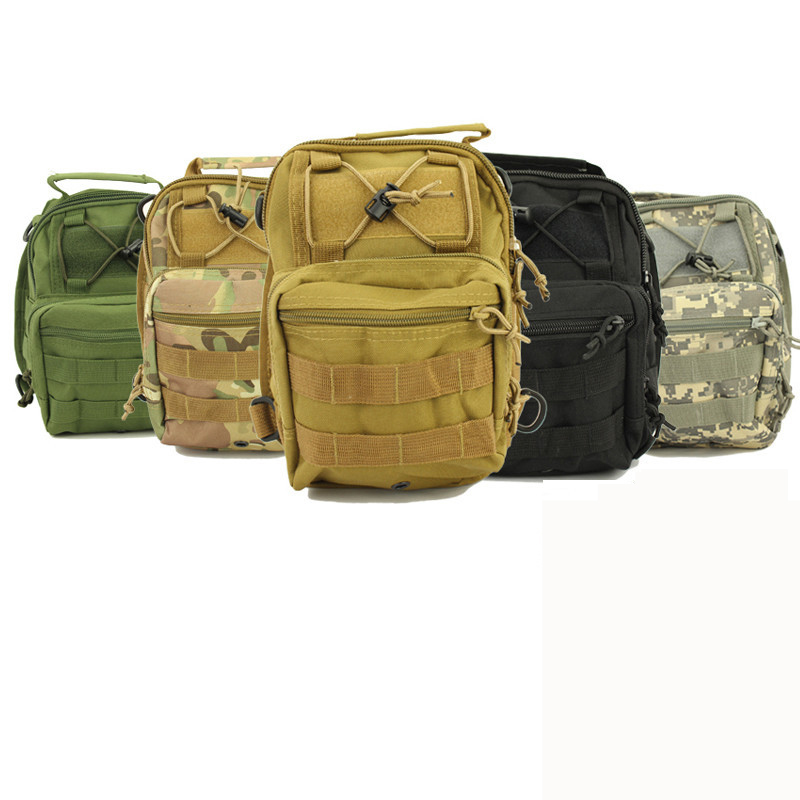 Sport Chest bag 600D Molle Nylon Tactical Utility 3 Ways Shoulder Sling Pouch Backpack Climbing travel hiking Bags Back pack(China (Mainland))