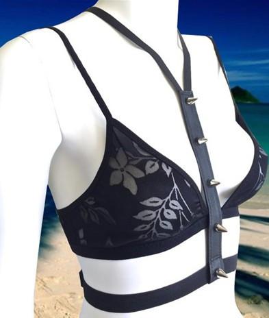 Бесплатная доставка, пик использовать черный кожаный черный эластичный влюблен в украшения для тела, гибкое использование жгут ленты