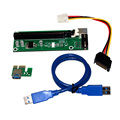 USB 3 0 PCI E Express Extender Riser Card Adapter pci e riser 1x to 16x