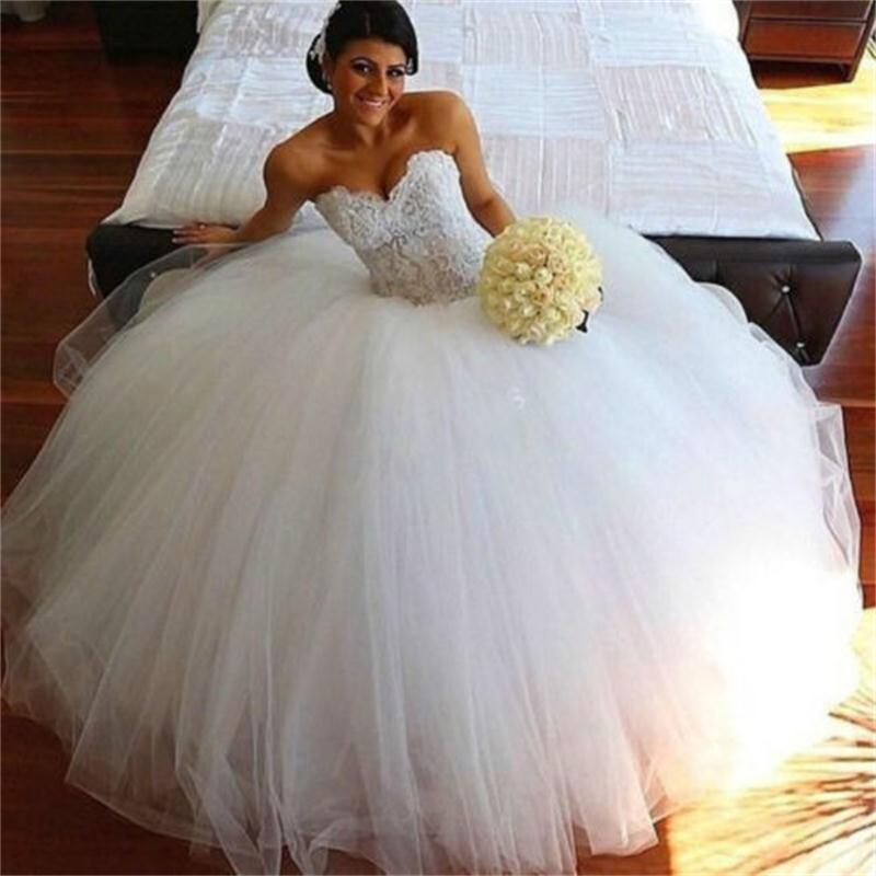 2015 gorgeous white ivory sweetheart ball gown wedding for Beautiful ivory wedding dresses