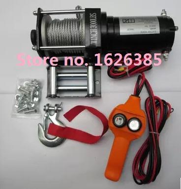 12V 2000LB electric winch 4X4/UTV/ATV Towing Rope(China (Mainland))