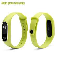 Boorui силиконовые mi Группа Браслет 2 ремень двойной цвет Mi band2 Ремешок Браслет замена Смарт-браслет для Xiaomi mi2 группа(China)