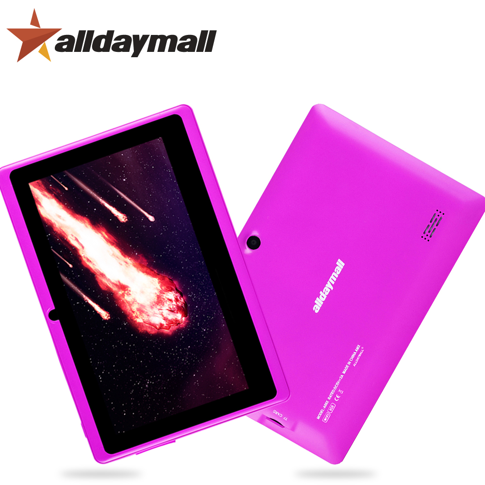 "Alldaymall A88X 7"" Tablet PC Purple Tablets Android 4.4 Quad Core Allwinner A33 Android Tablet 7 inch OTG TF Card Dual Camera(China (Mainland))"