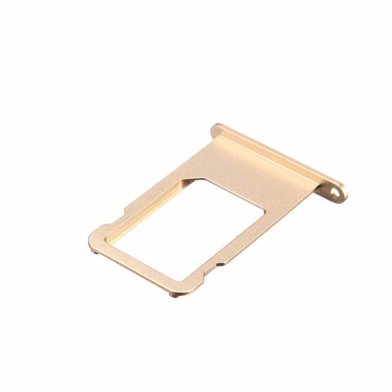 Replacement 100PCS/LOT Original New Parts Sim Card Tray For iPhone 6 6 Plus 4.7″ 5.5″ Gold Silver Gray Sim Card Slot Holder