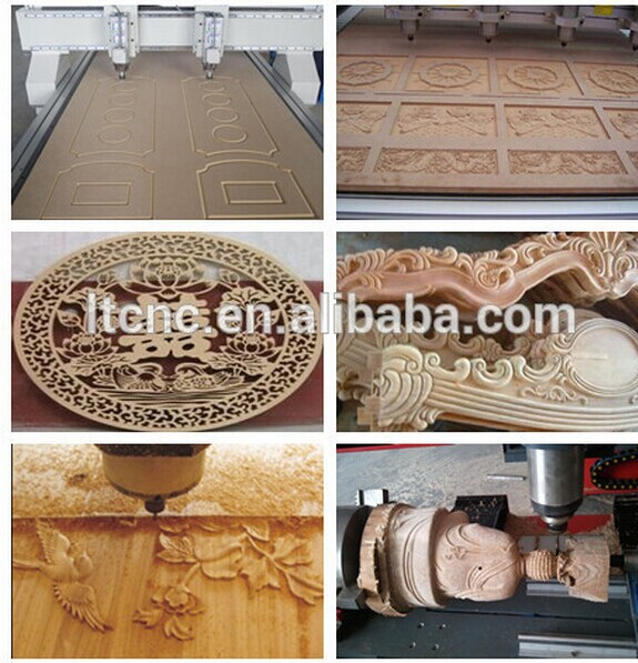 Made in China factory price high quality machine parts 1325 MDF Cutting CNC Router with Dust Collecting System LT-1325(China (Mainland))