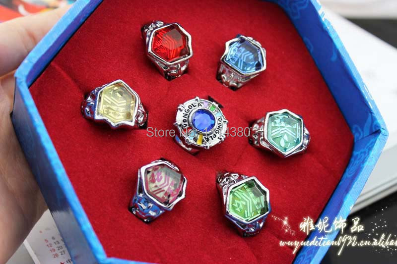 Katekyo Hitman Reborn Finger Ring  Vongola Tsuna Famiglia Cosplay 6pc Gift For Friends During Special Days<br><br>Aliexpress