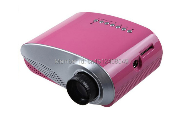 Pink 200lumens led data 3d projektor electric zoom for Small tv projector