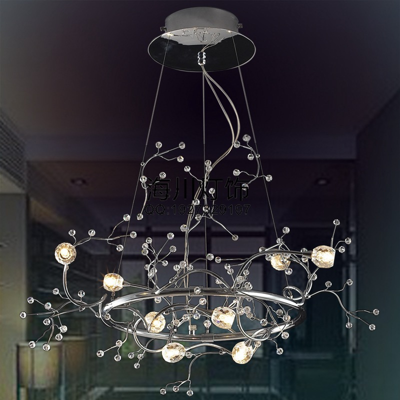 Factory Direct Italian original design and innovative hotel restaurant bar living room LED lighting crystal chandelier branches(China (Mainland))