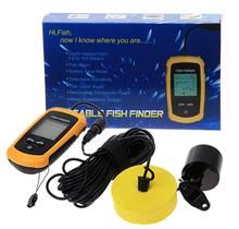 Portable Sonar Fish Finder Fishing Tool Alarm Transducer Sonar Sensor 100M Depth Fishing Bait Tool