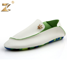2016 Superstra Famous Brand Designer Casual Leather Men Peas Shoes Genuine Skid Durable Men Shoes New Fashion Metal Casual Shoes