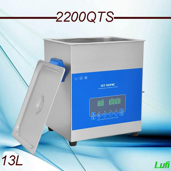 free shipping AC110v/220v smart ultrasonic cleaner 13L 2200QTS dual frequency dual power with degas ,sweep fuction(China (Mainland))