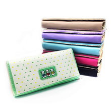 PU Leather Women Wallet 6 Colors 3 Folds Cartoon 3 Cats Zipper Money Pocket Card Holder For Gift For Halloween Party(China (Mainland))