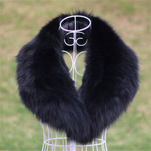 free shipping /real handmade fox fur collar /Raccoon scarf /black 90cm*12-13cm(China (Mainland))