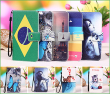 Buy 12 Patterns Fly IQ 456 case Colored Painting PU Leather Flip case Fly IQ 456 ERA Life 2 wallet phone Case Cover +Tracking for $5.39 in AliExpress store