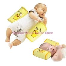 2 Pcs Hight Quality Comfortable Cotton Baby Toddler Safe Anti Roll Pillow Cute Cartoon Sleep Head Positioner Anti-rollover(China (Mainland))