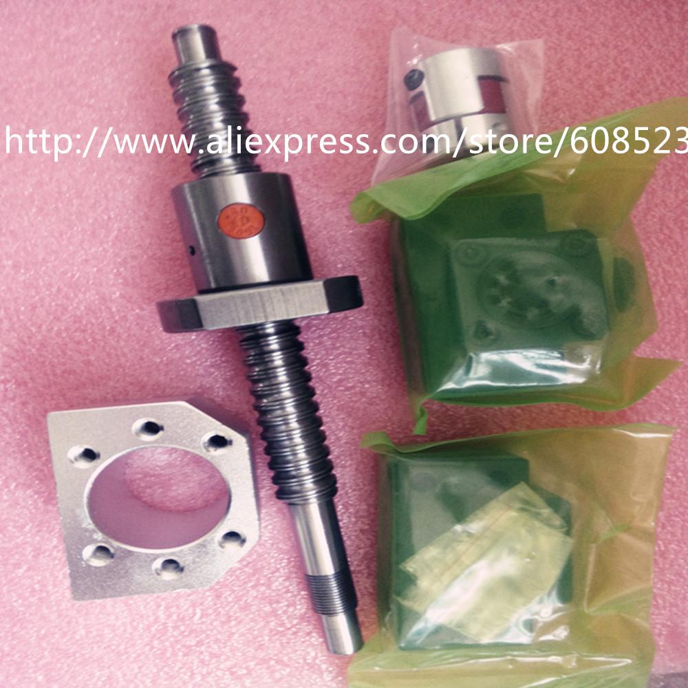 1antibacklash ballscrew 1605-750mm-C7+BK/BF12+couplers6.35*10 +1 nut housing CNC parts - Hardware Daquan store