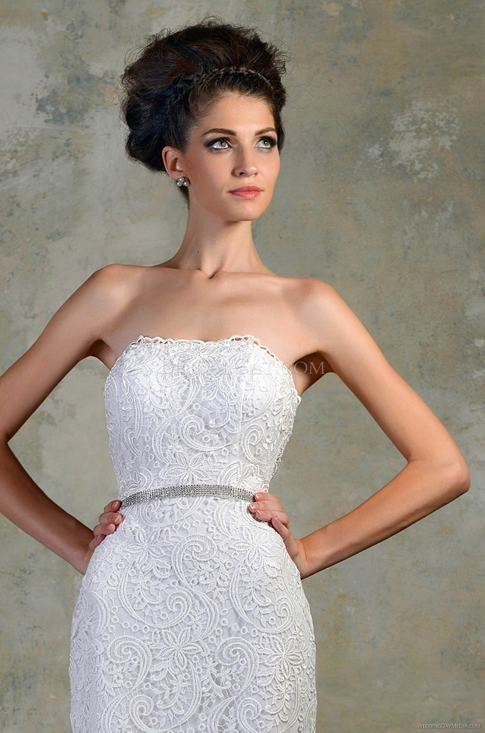 White Short Fitted Wedding Dress