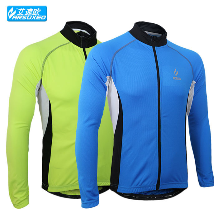 ARSUXEO Winter Men Sports Cycling Jersey Bike Bicycle Running Long Sleeves Quick Dry Clothing Shirts Wear clothes VF2038(China (Mainland))